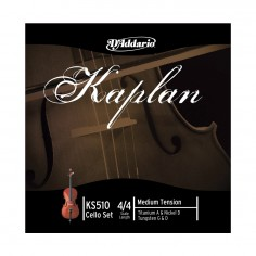 Encordado p/violonchelo Kaplan, escala 4/4, tensión media. KS5104/4M