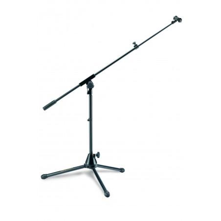 Soporte p/microfono, 3ptas, corto, boom telescopico. Alt Max 65cm