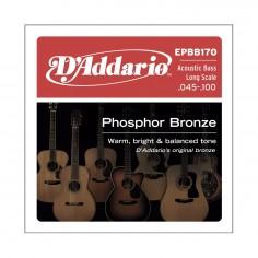 Encordado p/Bajo acústico EPBB170 de bronce fosforado, escala larga, 45-100