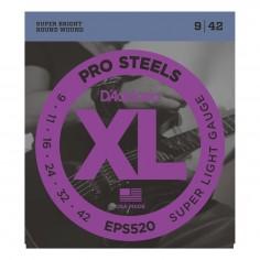 Encordado p/Guit eléctrica EPS520 de acero, extra blandas, 009-042