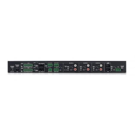 Mixer p;instalacion: 3 ch st + 1 mic c;phantom,ducking; RJ45