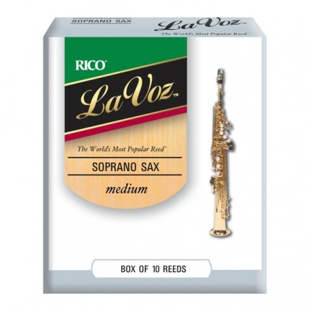 Cañas para Saxo Soprano, LA VOZ, Medium Soft x 1 (MC x 10)