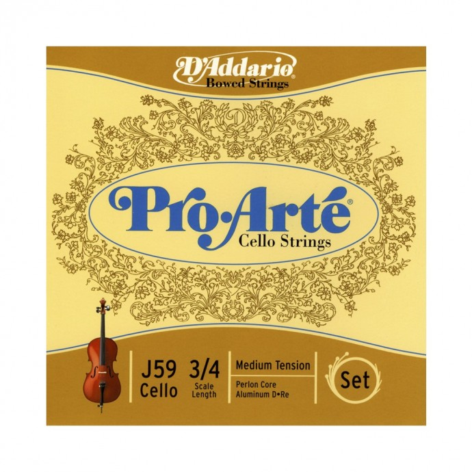 Encordado p; Cello, PROARTE CELLO SET 3;4, T: MED