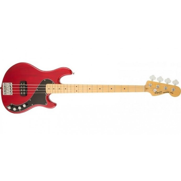 Bajo Elec. Deluxe Dimension Bass IV MN, 1 x Hum, Crimson Red Transparent