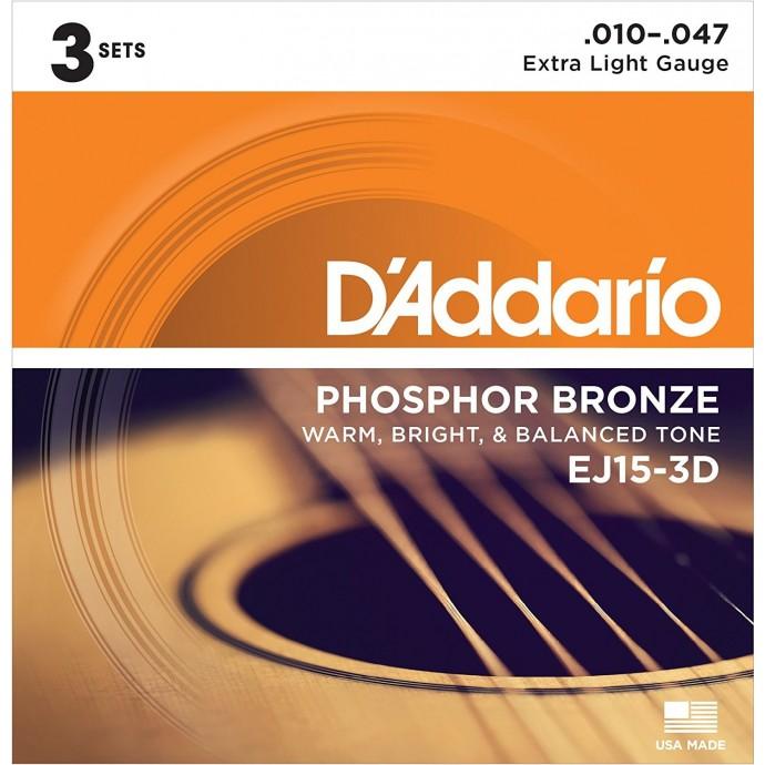 Enc. p/ acustica Bronce Fosforado .010/.014/.023/.030/.039/.047 (MC-Pack x 3)