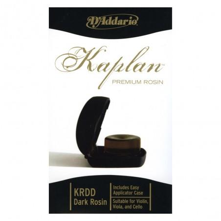 Resina Kaplan Premium D'Addario con estuche, oscura.