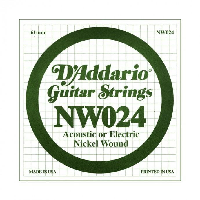 Cuerda Suelta, NW 024 Nickel Wound x 1 (MC-sobre x5)
