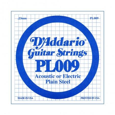 Cuerda suelta PL009 de acero liso p/guitarra, .009