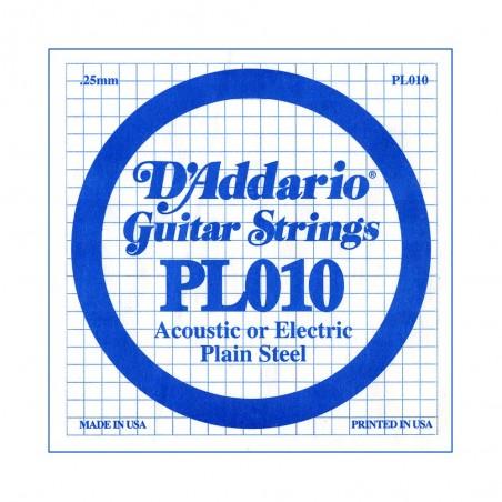 Cuerda suelta PL010 de acero liso p/guitarra, .010