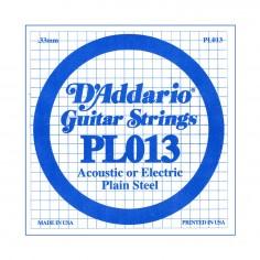Cuerda suelta PL013 de acero liso p/guitarra .013