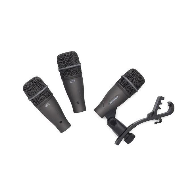 Set de 3 mics. p; bateria (3 tom;snare Q72 + soportes + val
