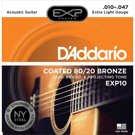 Enc. p; acustica Coated Bronce 80;20 .010;.014;.023;.030;.0