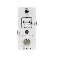 Micro Pedal Looper para guit;bajo: graba, reproduce, regraba