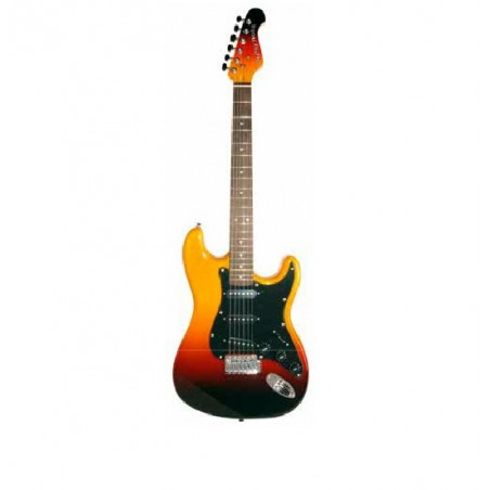 ELECTRIC GUITAR KIT, BLACK BROWN SUNBURST