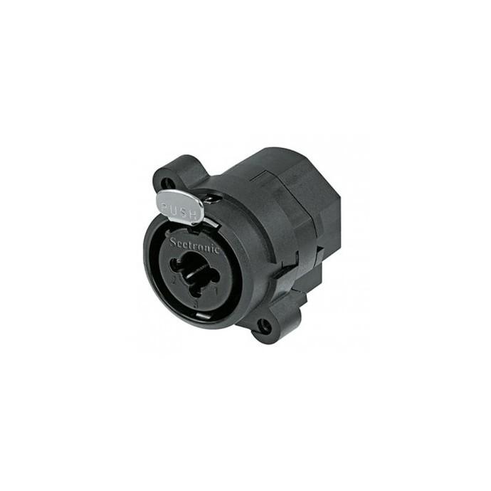 Conector COMBO para chasis, redondo (xlr+plug)