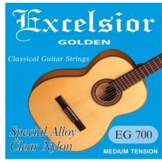Encordado p;Guitarra Clasica Excelsior, Tension Media, Clea