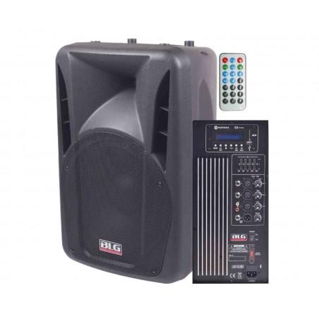Bafle ABS, Activo, 15'+Dr, 200w/4, USB/SDPlay/Blueth/FM Radio, 3 XLR+RCA, 5eq, Salida directa