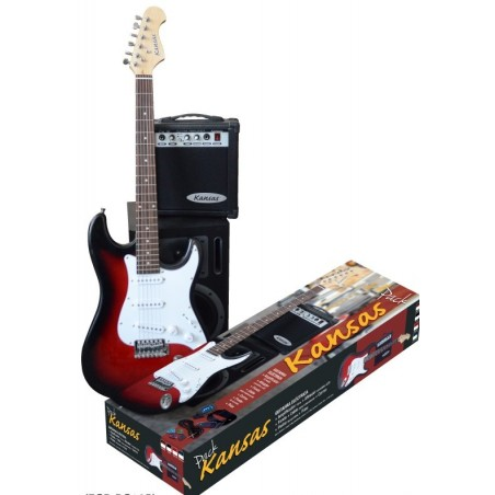 Kansas Pack GUIT WINE RED (Guitarra+ Ampl10w + Afinad LCD+ F