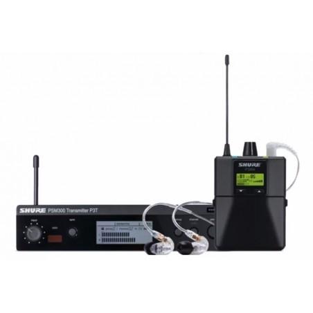 PSM300 SYSTEM, PRO BODYPACK W/SE215-CL