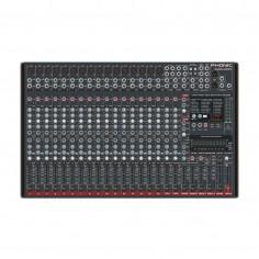 Mixer 24 Canales, 16Micr;Linea + 4st, 4 aux, 4 Subgr, 16