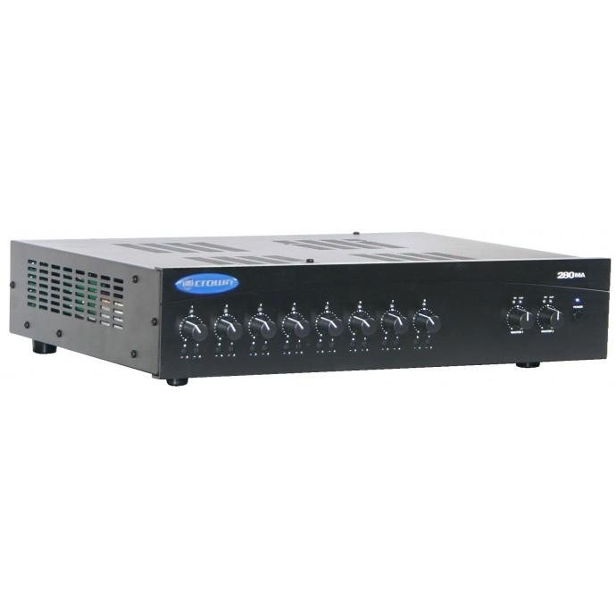 Crown 280MA Potencia + Mixer 4 ch de Instalación 80w/4