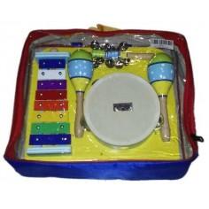 Set de percusión p;niños, 4 instr, Pander+Maracas+Cascabele