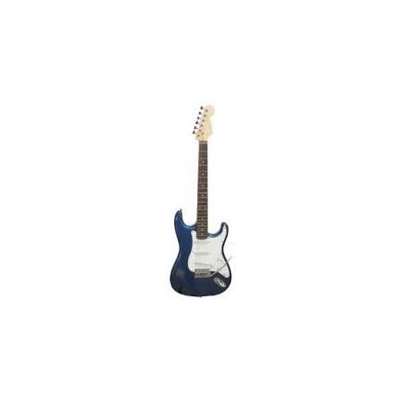 Guitarra electrica tipo STR, Azul