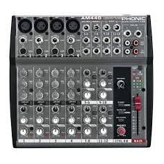 Mixer, 4XLR;linea +4st, Eq 3bd, Aux x canal,