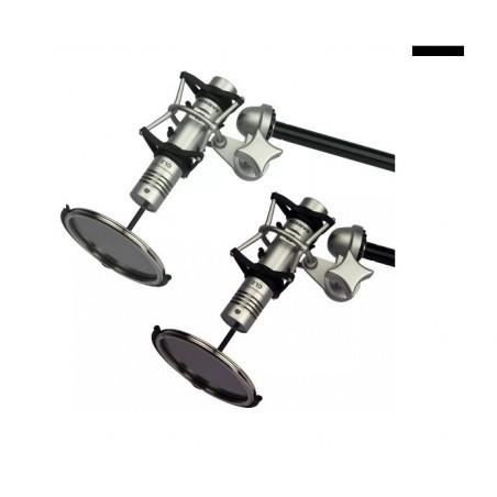 Samson CL2 set de microfonos condenser con suspension, paravientos y estuche.