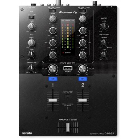 Mixer DJ de 2 Canales para Serato, Sound Color FX, Placa de