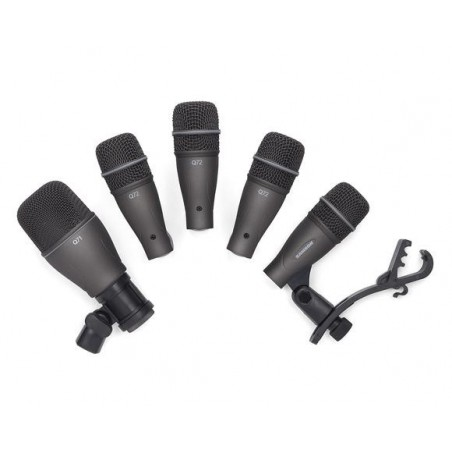 Set de 5 mics. p; bateria (4 tom;snare Q72 + 1 drum Q71 + s