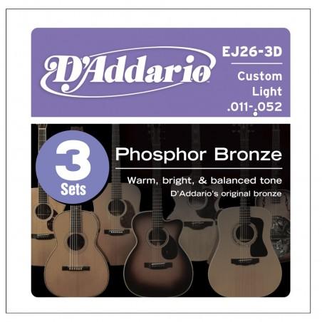 Enc. p; acustica Bronce Fosforado .011;.015;.022;.032;.042;