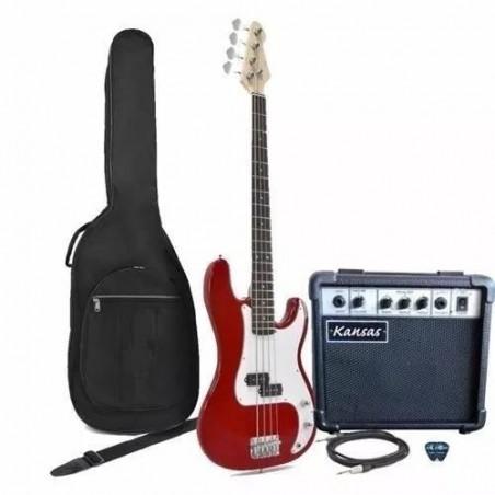 Kansas Pack BAJO BORDO (Bajo+ Ampl + Afinad LCD+ Funda+ Cab