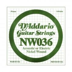 Cuerda Suelta, NW 036 Nickel Wound x 1 (MC-sobre x5)