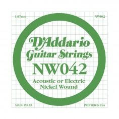 Cuerda Suelta, NW 042 Nickel Wound x 1 (MC-sobre x5)