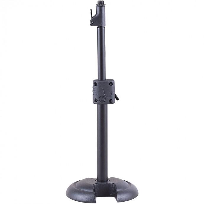 Soporte p; microfono, de mesa, Recto, Base Redonda Alt. Ma