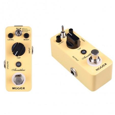 Micro Pedal de efecto p;guit, simulador de acustica, Piezo;