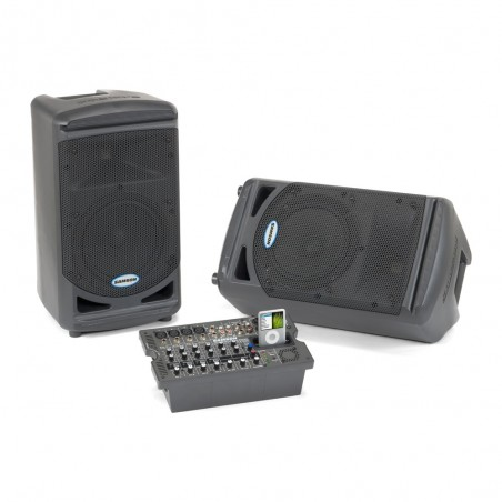 Samson XP308i sistema sonido portable 300 watts.