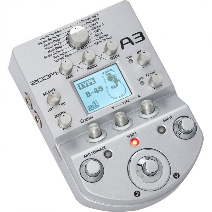Zoom A3 Pedalera para guitarra acústica