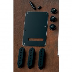 Kit Acc Plasticos Strato Negro, Tapas mic, perillas y tapa