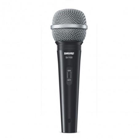 Micrófono Dinámico Multi-uso SV100-W Blister, c/Sw on-off,50-15000H c/Cable XLR/Plug, Grilla C: Cromado