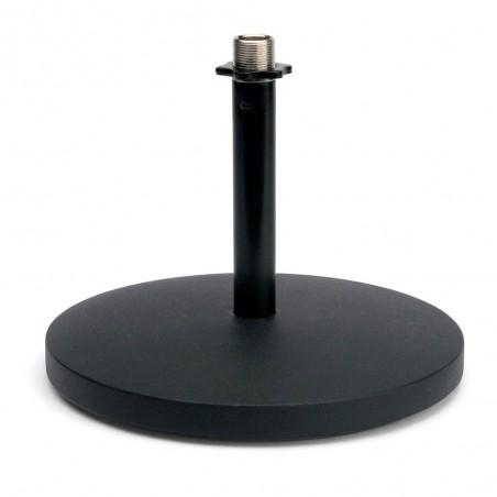 Soporte p/Micrófono de mesa, base redonda, recto, pesado, BK