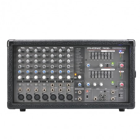 Mixer potenciado POWERED 740 Plus, 7 canales