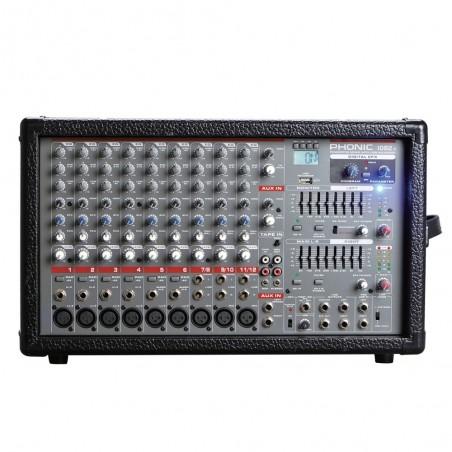 Mixer amplificado Powerpod 1082 R, 10Ch 800w, (2x400w)/4, Efectos, USB, 2 x Eq Graf