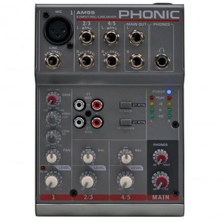 Mixer compacto AM55 Micr/linea + 2 St, Eq 2 bd