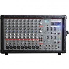 Cons Potenc 10Ch 600w (2x300w asign), USB rec;play, Eq Graf