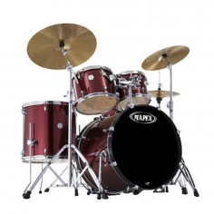 Batería HORIZON X 5 cpos Rock, 22, TT10+12, FT16, R14x5.5, Sin fierros, c: BURGUNDY STEEL