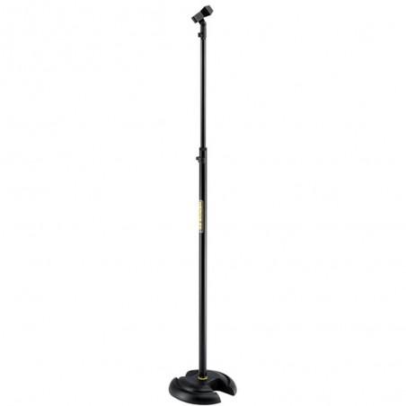 Soporte de Microfono, Recto, Base Red Pesda, c/Sist Quik-N, Alt Max 1.68 mts c: BK