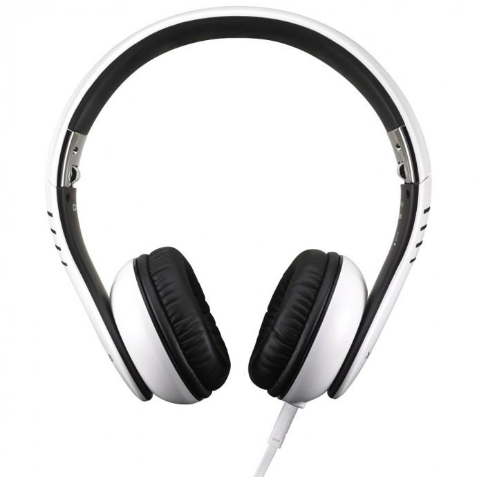 Auriculares Circumaurales de 40mm, flexible, plegable,cable desmontable, diseñado por Vestax, Blanco