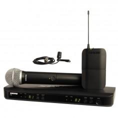 Sistema Micrófono Inalámbrico BLX Doble Combinado, Mano/Corbatero, PG58 + CVL (c/bodypack) (662.15 – 685.87 MHz)